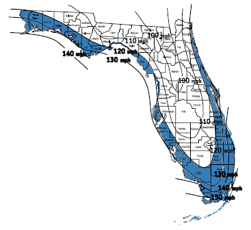 Florida Building Code Hurrican Wind Zones